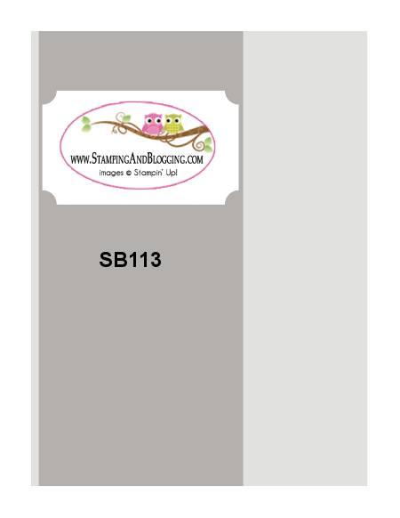 SB #113 stamping&blogging
