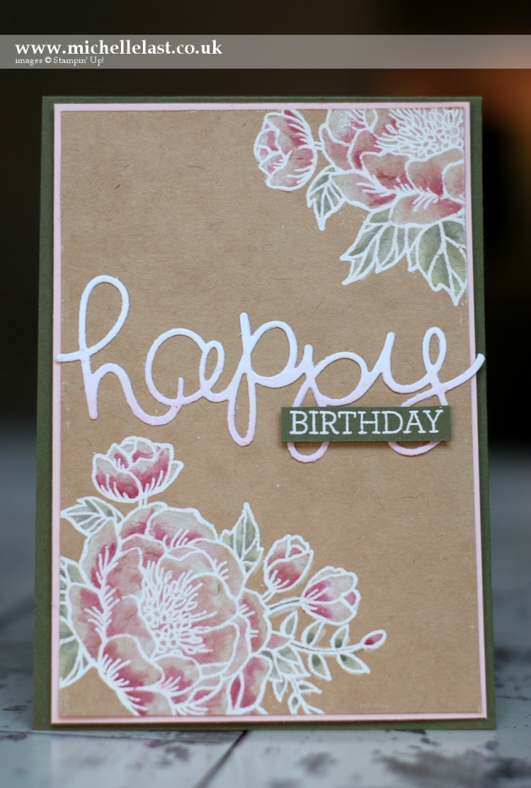 Birthday Blooms from Stampin up made by Michelle Last