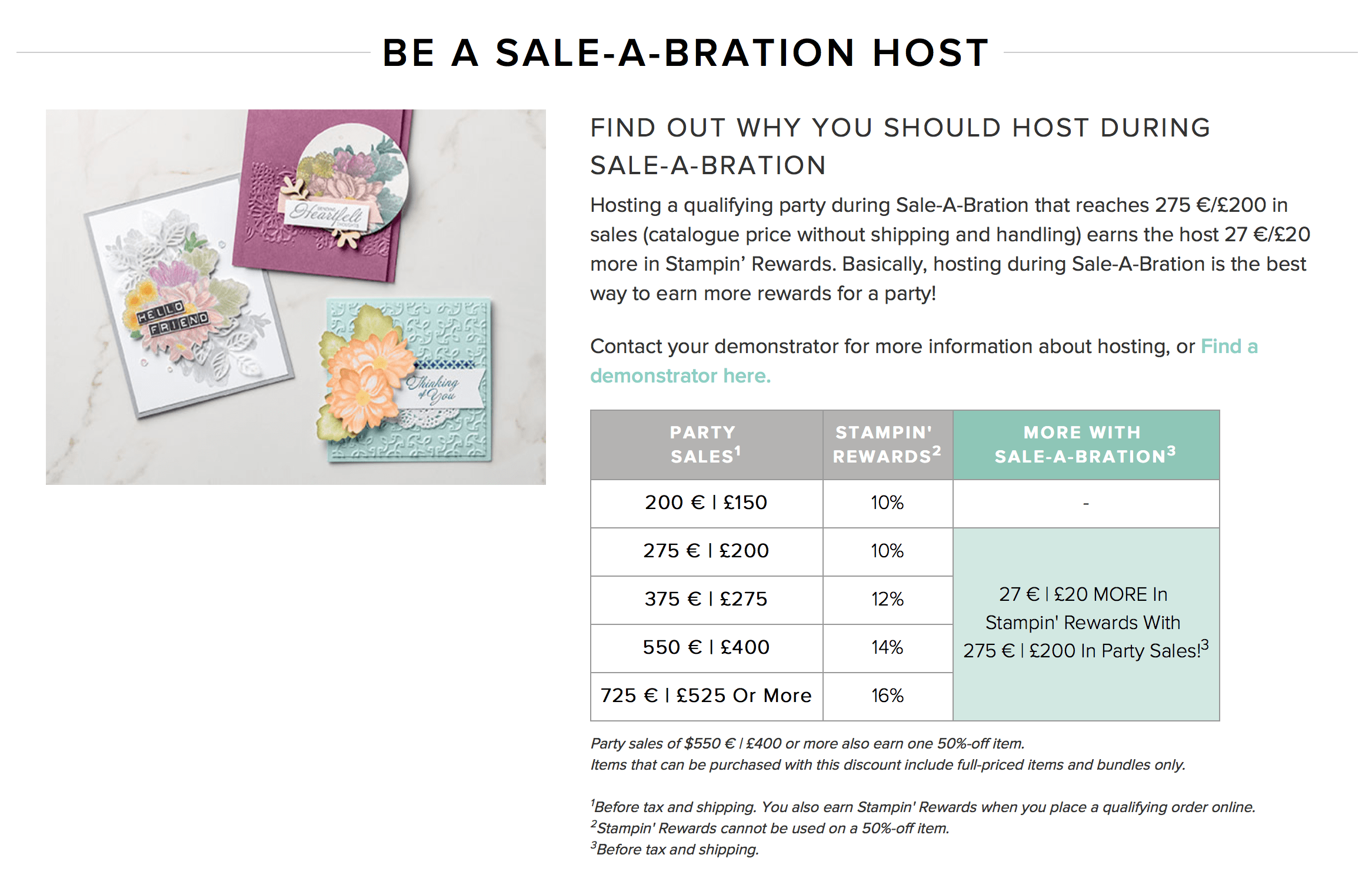Extra Stampin Rewards in Saleabration