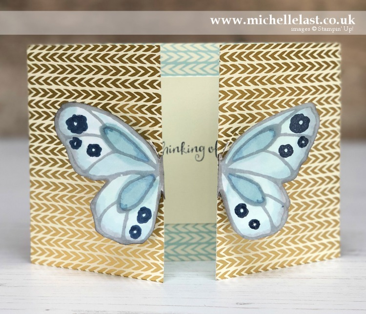 Beautiful Day Butterfly Card Stampin Up