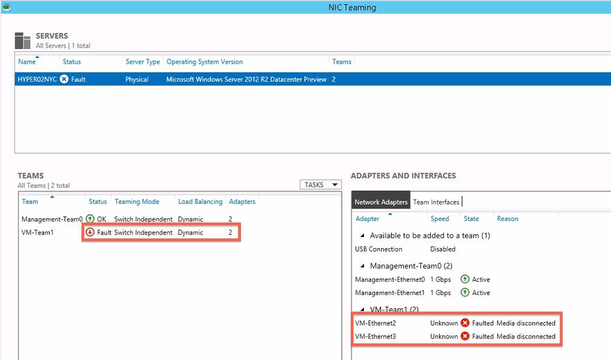 Go Team! – Windows Server 2012 Hyper-V R2 Networking