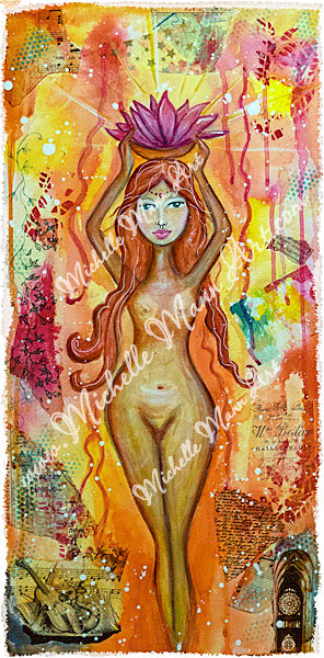 Golden Muse by Michelle Mann copyright Michelle Mann 2017 all rights reserved