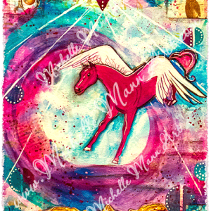 Spirit Horse high quality reproduction of original artwork by Michelle Mann copyright Michelle Mann 2017 all rights reserved michellemannart.com