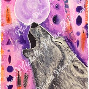 Spirit Wolf by Michelle Mann copyright Michelle Mann 2017 all rights reserved