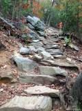 Rock steps along the trail