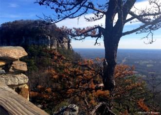 At the summit overlook