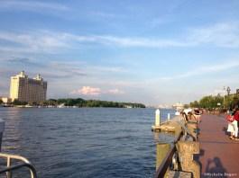 Savannah's scenic riverfront