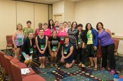 """The fabulous """"Blogging Over 40"""" discussion group. Courtesy Carrie D Photography"""