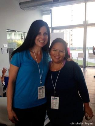 With fellow blogger Patty Aizaga