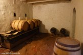 Liquor storage area in the basement of the tavern museum.