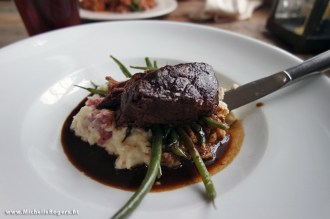 Lunch at the tavern was delicious. I enjoyed the pot roast with mashed potatoes and green beans.