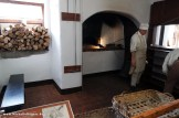 The wood-fired oven at the bakery is 9 feet deep.
