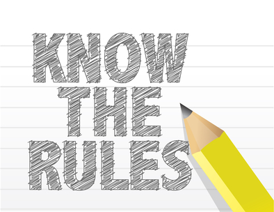 Know The Rules written on a blank notepad paper illustration des