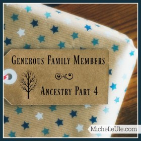 Generous family members, genealogy, Ancestry.com, genealogical libraries, international genealogy, sharing family history
