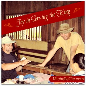 Joy, joy in serving the King, God, spiritual growth, faith, Bible, Bible study, Jesus, forgiveness, missionary work, missions, self-sacrifice