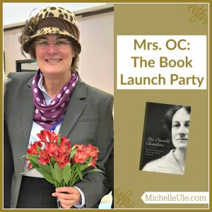 Book launch party, Mrs. Oswald Chambers, My Utmost for His Highest, what do you do at a book launch party? High tea, cucumber sandwiches