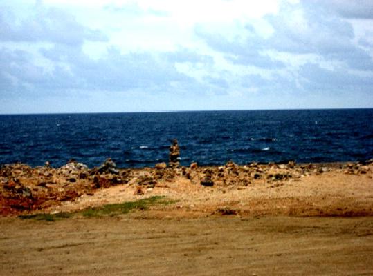 Rock Stacking at Aruba's Beaches