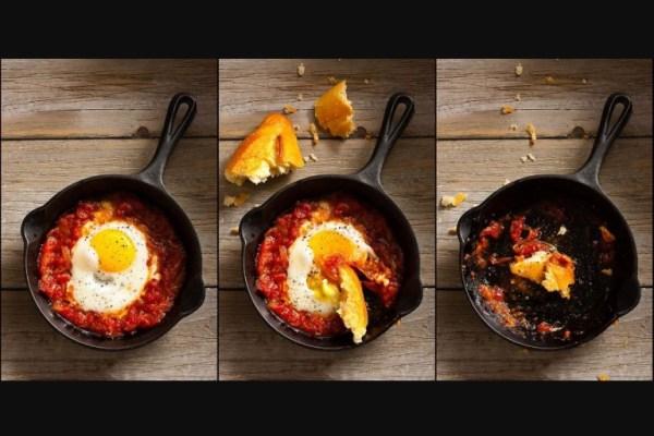 Uova al tegamino con pomodoro