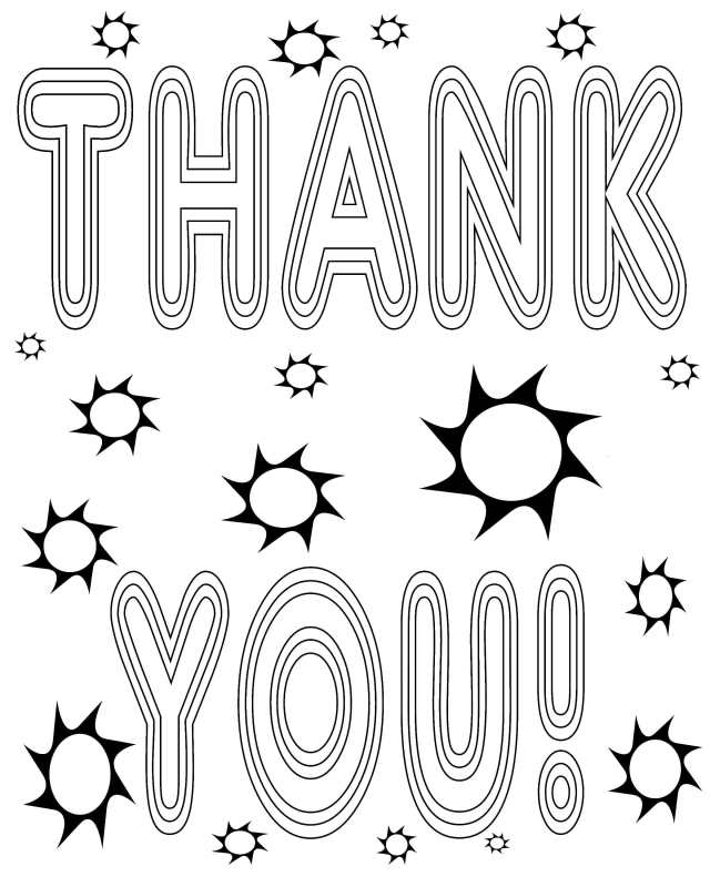 Thank you printable coloring pages