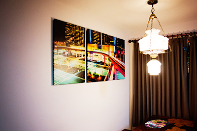 An example of our canvas wraps on a client's wall