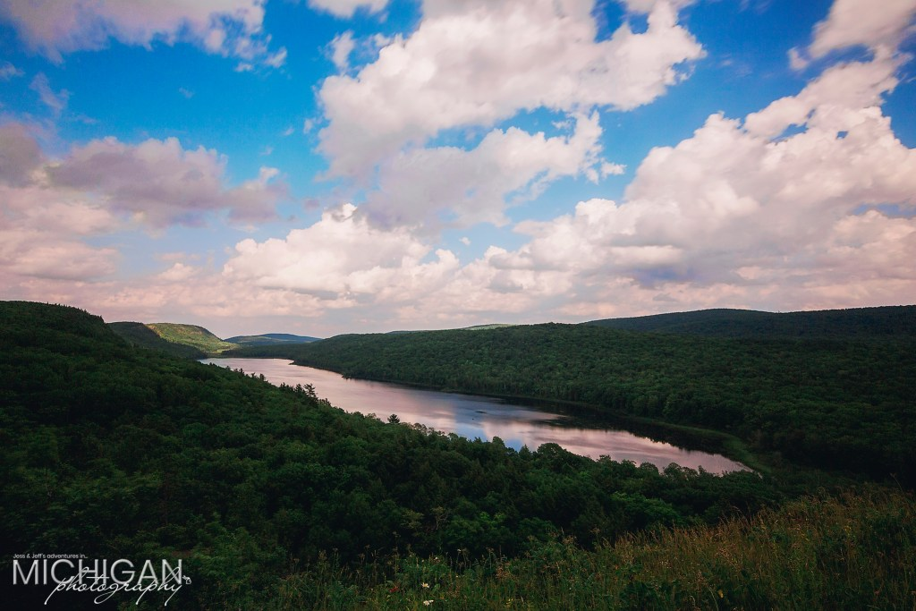 Lake of the Clouds - A partly sunny, gorgeous day in the Porcupine Mountains.