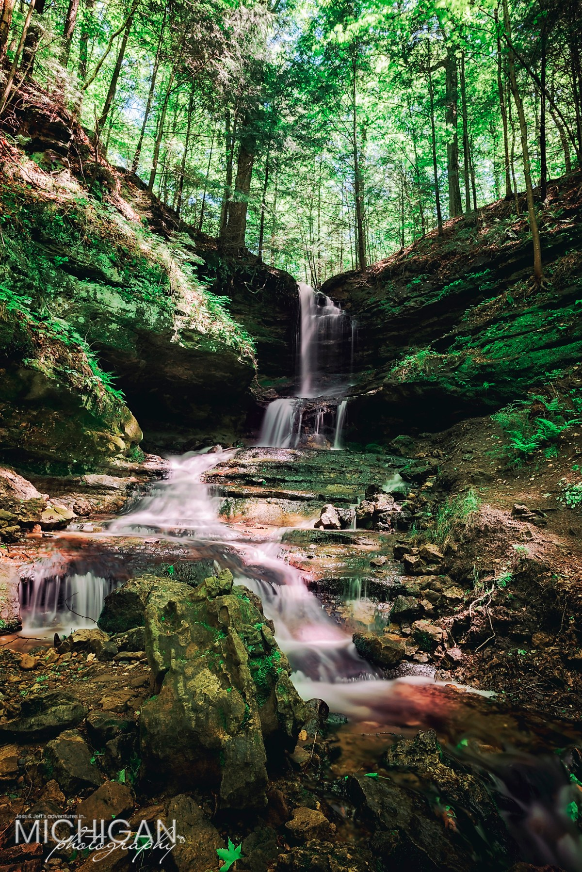 Horseshoe Falls in Munising Michigan