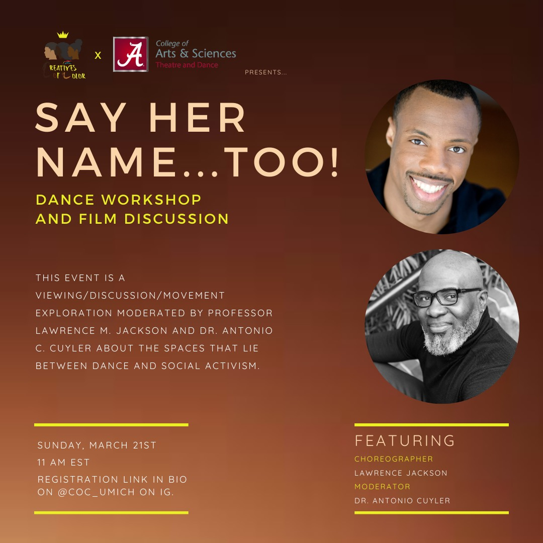 Say Her Name Flyer graphic