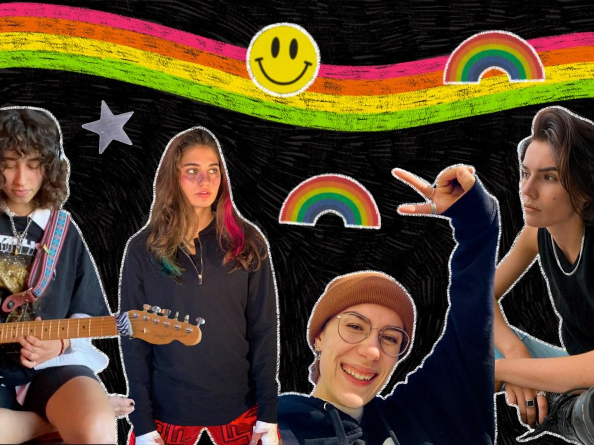 A collage of popular queer TikTok creators.