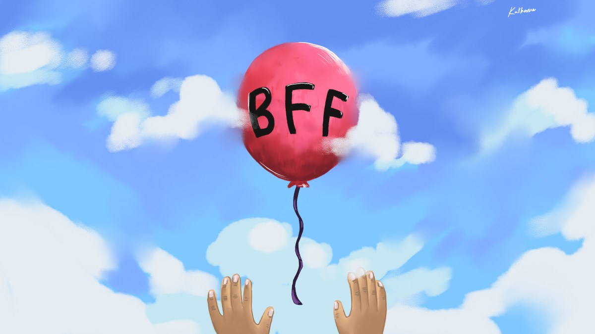 Balloon floating into the air with