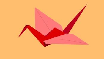 An origami bird.
