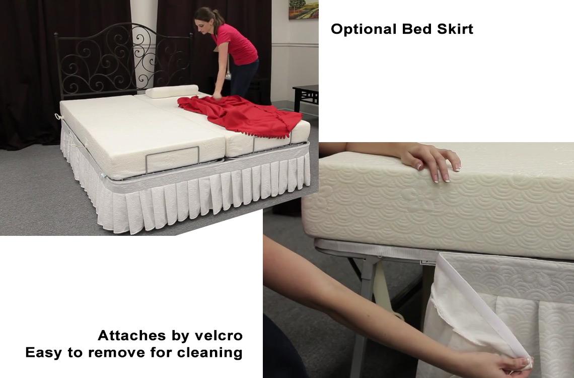 Light Weight Adjustable Metal Bed Frame