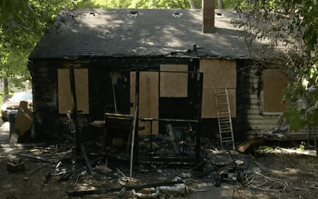 House in Kalamazoo destroyed by fire.