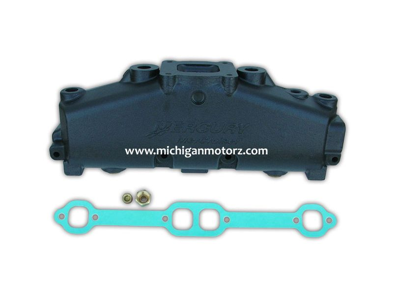 mercruiser 5 0l 5 7l center rise dry joint exhaust manifold oem 2002 current