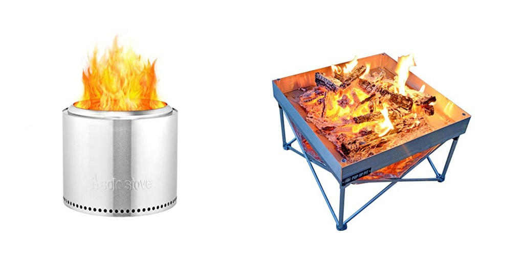 The Solo Stove and Pop Up Pit.