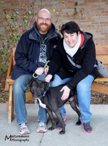 Mel with his new Mom and Dad.