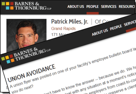 Patrick Miles and His Union Busting Law Firms