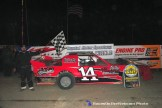 Nate Jones won the Pro Stock feature Saturday April 18th, 2015 at Crystal Motor Speedway. (Big V / RacesOnTheWeb.com Photo)
