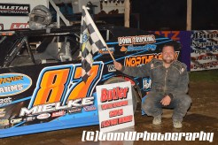 David Mielke won the modified feature Saturday night May 2, 2015 at Butler Speedway. (Tom W Photography)