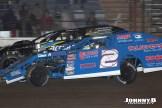Travis Stemler (#2) racing with Mark Anderson (#43) Friday night at Winston Speedway. (John Berglund Photo)