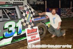 Josh Garrett won the street stock feature Saturday May 2, 2015 at Butler Speedway. (Tom W Photography)