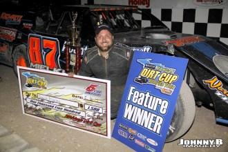 David Mielke won Friday night's Michigan Dirt Cup event at Winston Speedway. (John Berglund Photo)