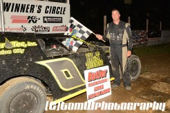 Tim Wilbur won the UMP Modified feature Saturday at Butler Speedway. (TW Photographics)