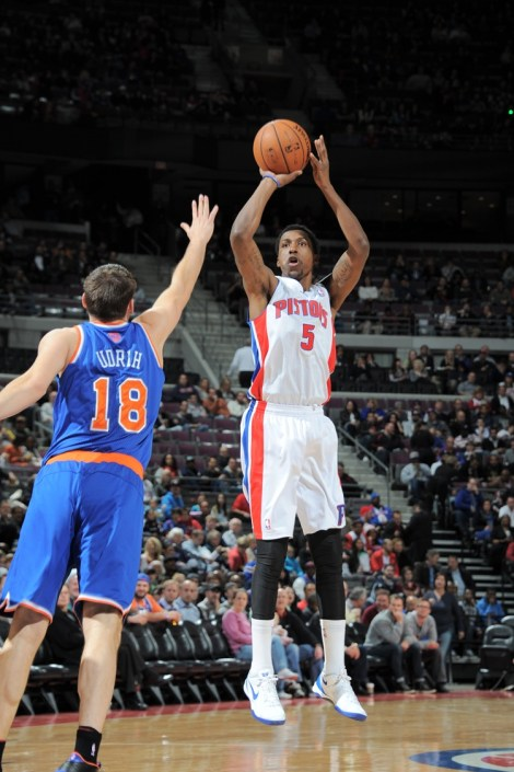 Kentavious Caldwell-Pope will start for the ninth consecutive game for the Detroit Pistons, on Sunday against the visiting Philadelphia 76ers (Photo Courtesy of the Detroit Pistons)