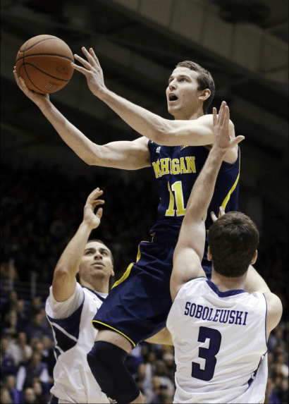 Nik Stauskas's sustained in success in Big Ten play could make him the second consecutive Wolverine to win Big Ten player of the Year. (http://www.toledoblade.com/image/2013/01/03/800x_b1_cCM_z_cT/Michigan-Northwestern-Basketball-Nik-Stauskas.jpg)