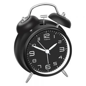Peakeep 4-inch Twin Bell Alarm Clock with Stereoscopic Dial