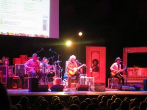 Randy Bachman Band - Vinyl Tap Tour - Massey Hall Toronto, March 15, 2014 . Mick Dalla-Vee, Marc LaFrance, Randy Bachman, and Brent Howard Knudsen. Photo 20