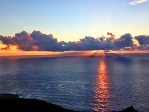 Surnrise over Molokai