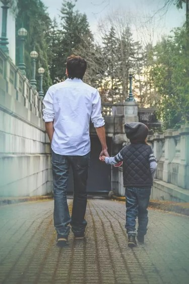 Walking with his children - child support consultation | The Micklin Law Group, LLC