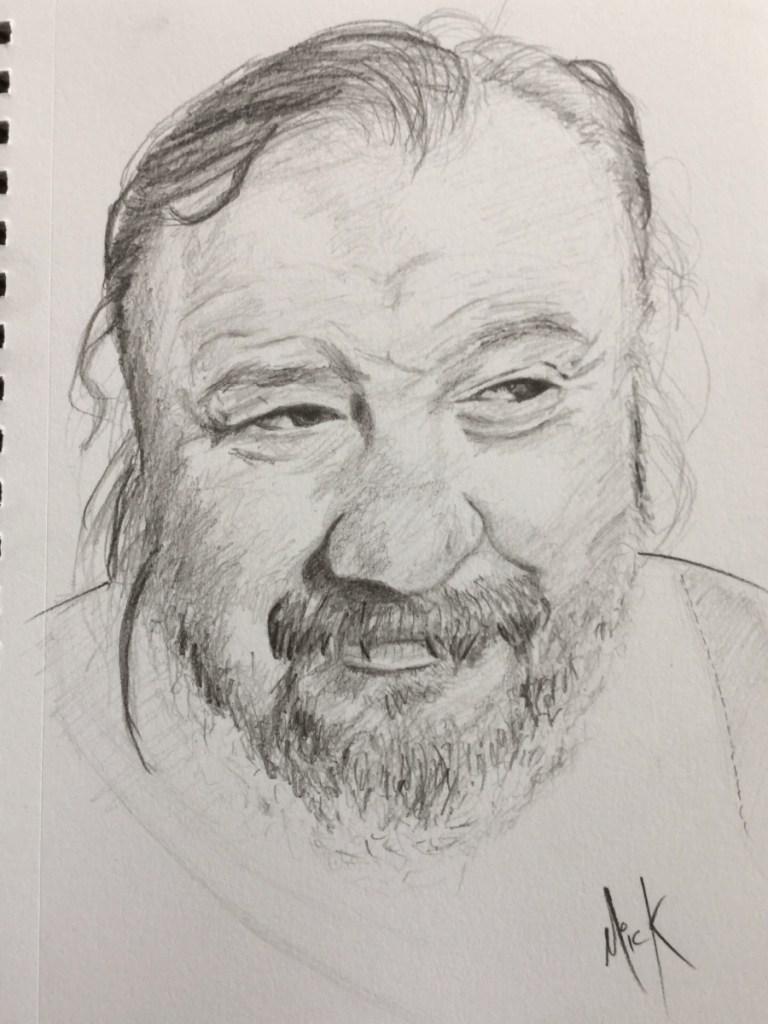 A Pencil sketch of Freddie Wilson