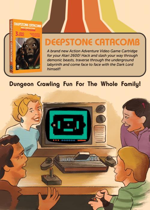 Deepstone Catacomb Retro Flyer